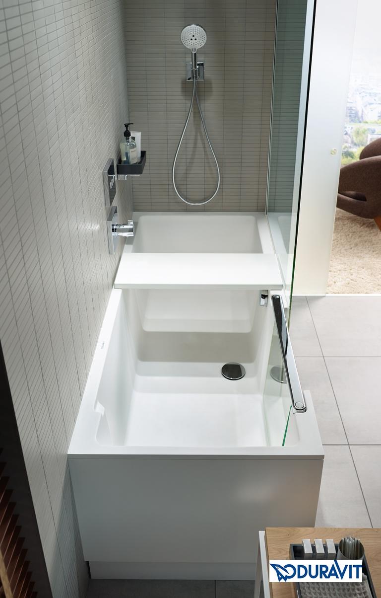 Duravit Shower and Bath - Längsansicht mit Sitzteil